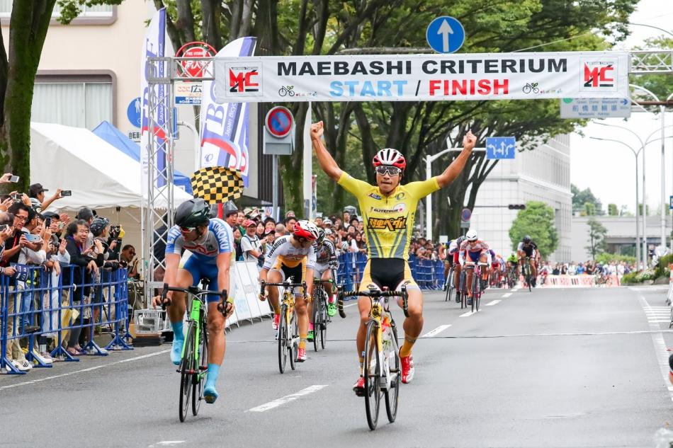 第1回JBCFまえばしクリテリウム(E1) 岡篤志(弱虫ペダルサイクリングチーム)が優勝