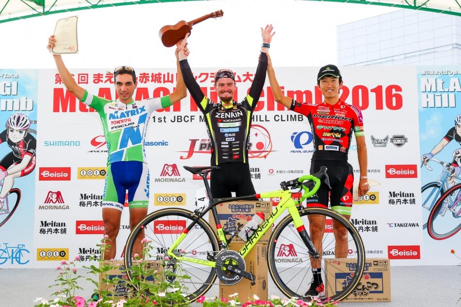第1回JBCFまえばし赤城山ヒルクライム オスカル・プジョル(Team UKYO)が優勝