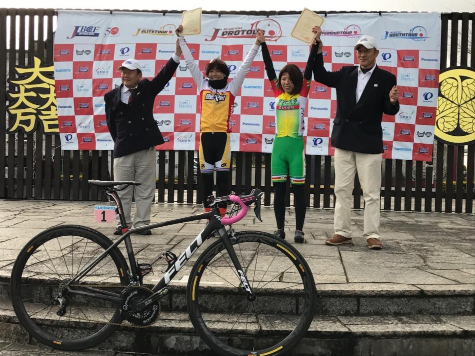 JBCF伊吹山ドライブウェイヒルクライム 唐見実世子(弱虫ペダルサイクリングチーム)が優勝