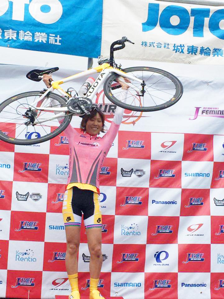 第24回JBCF舞洲クリテリウム 唐見実世子(弱虫ペダルサイクリングチーム)が第2位